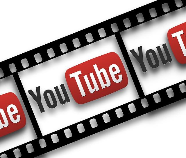 filmový pás s youtube
