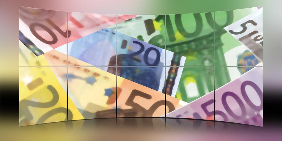 skládačka z eur